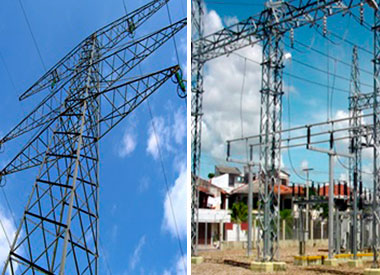Fabricación de estructuras metálicas para transmisión eléctrica - Aremetal